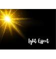 beautiful glowing light vector image