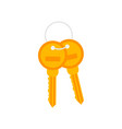 bunch keys icon on white background vector image vector image