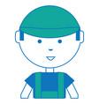cartoon mechanic man icon vector image vector image