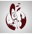 Cartoon vampire Halloween character vector image vector image
