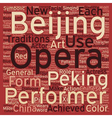 Chinese Opera text background wordcloud concept vector image vector image