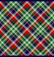 classic plaid seamless pattern vector image vector image