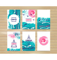 Collection of six cute universal card or vector image vector image