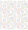 colorful seamless background with circles and dots vector image vector image