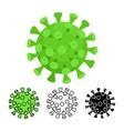 coronavirus virion virus flat design line art vector image