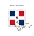 Dominican Republic Flag Postage Stamp vector image vector image