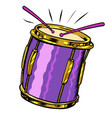 drum musical instrument vector image