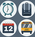 Education Objects Icons Set vector image