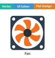 Fan icon vector image