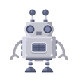 Fiction Robot on White Background vector image vector image