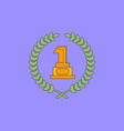 first place icon golden number one symbol vector image vector image