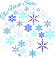 First Snow vector image vector image