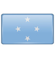 Flags Micronesia in the form of a magnet on vector image vector image