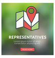 Flat design concept for representatives wit vector image vector image