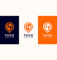 food pin logo premium vector image