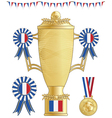 france football trophy vector image