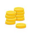 golden coins stacks metal money realistic vector image vector image