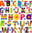 Happy alphabet set vector image
