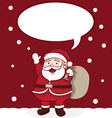 Happy Santa Claus Greeting for Christmas vector image