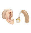 hearing aid behind the ear sound amplifier for vector image vector image