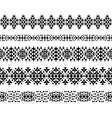 Horizontal seamless ethnic pattern