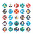 human resources flat circular icons set 1 vector image vector image
