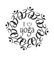 Ilove yoga vector image vector image