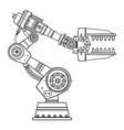 industrial robot hand image on the isolated vector image