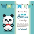 invitation baby shower card with panda desing vector image vector image