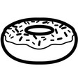 isolated donut outline vector image