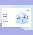 landing page template of fossil fuel concept vector image vector image