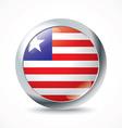Liberia flag button vector image vector image