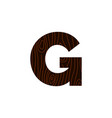logo letter g wood texture vector image