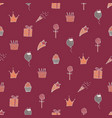 lovely seamless pattern for a birthday vector image