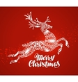 Merry Christmas greeting card Decorative xmas vector image vector image