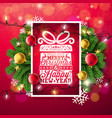 merry christmas with typography and vector image vector image