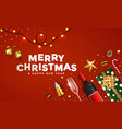 modern merry christmas greeting card 4 vector image vector image
