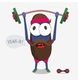 Monster weightlifter vector image vector image