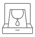 necklace in box thin line icon jewellery and vector image vector image