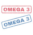 omega 3 textile stamps vector image vector image