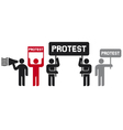 people protesting icons vector image vector image