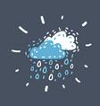rain icon on dark vector image