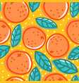 retro pattern with oranges vector image vector image