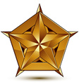 Royal golden geometric symbol stylized golden star vector image vector image