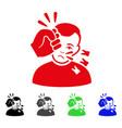 sad head strike icon vector image vector image