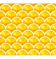 Seamless background with orange slices vector image vector image