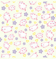 seamless pattern with cute funny kawaii kittens vector image vector image
