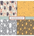 Seamless patterns barbershop vector image