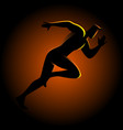 silhouette a sprinter vector image