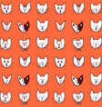Sketch cat face seamless pattern vector image vector image